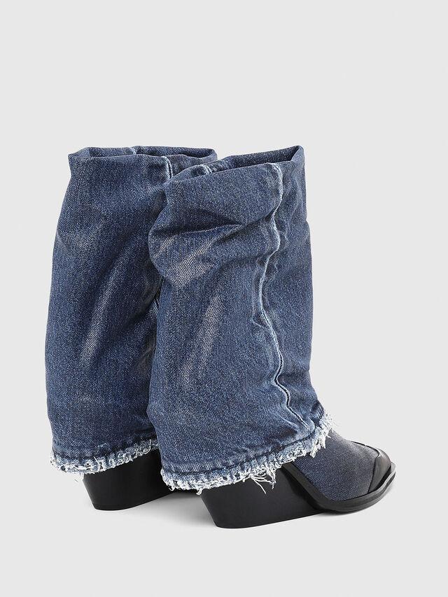 Diesel - D-WEST MB, Blue Jeans - Botines - Image 3
