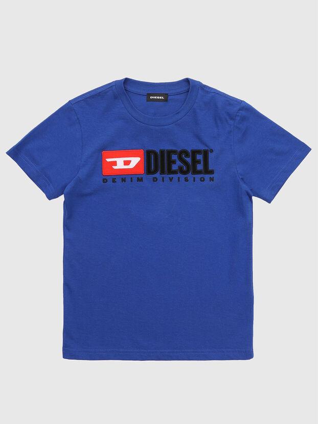 TJUSTDIVISION, Azul Mezcla - Camisetas y Tops