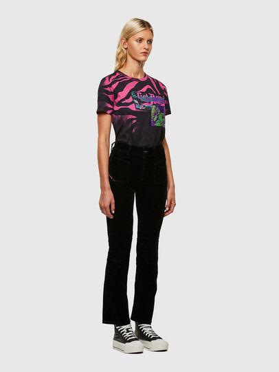 Diesel - T-SILY-R3, Negro/Rosa - Camisetas - Image 5