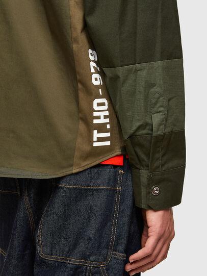 Diesel - S-HORUS, Verde Oliva - Camisas - Image 4