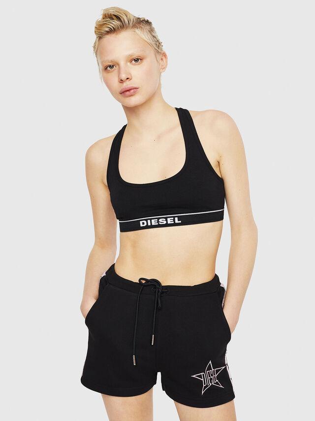 Diesel - UFLB-MARIN-SH, Negro/Rosa - Pantalones - Image 4