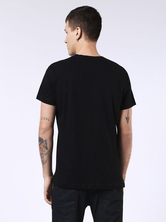 DVL-T-SHIRT-ML-RE, Negro