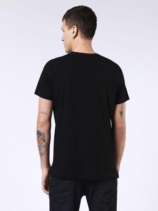 Diesel - DVL-T-SHIRT-ML-RE, Negro - Camisetas - Image 2