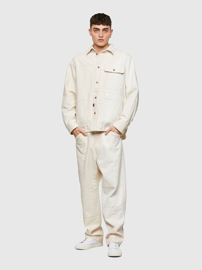 Diesel - D-HORUS-SP, Blanco - Camisas de Denim - Image 7