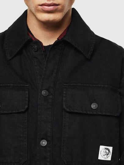 Diesel - D-WELLES, Negro/ Rojo - Camisas de Denim - Image 4