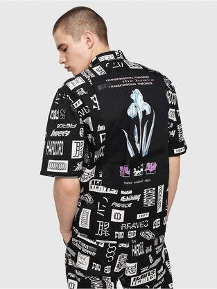 5e397eef0f Negro Blanco. Camiseta estampada en algodón