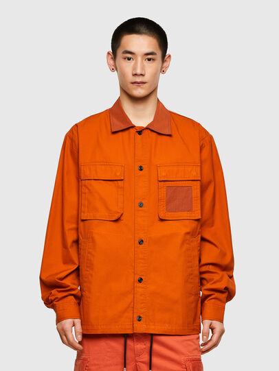 Diesel - S-GUNN-LS, Naranja - Camisas - Image 1