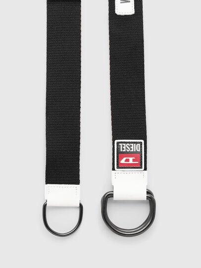 Diesel - B-RETA, Negro/Blanco - Cinturones - Image 4
