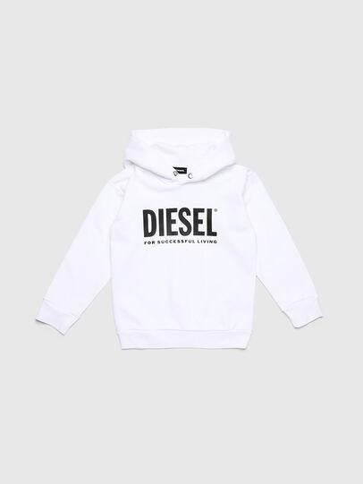 Diesel - SDIVISION-LOGO OVER, Blanco - Sudaderas - Image 1