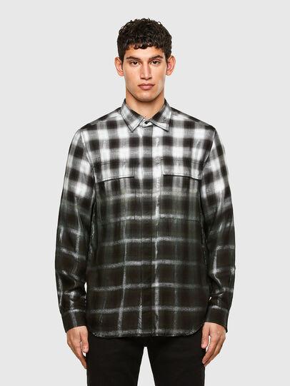 Diesel - S-KEITH, Negro/Blanco - Camisas - Image 1