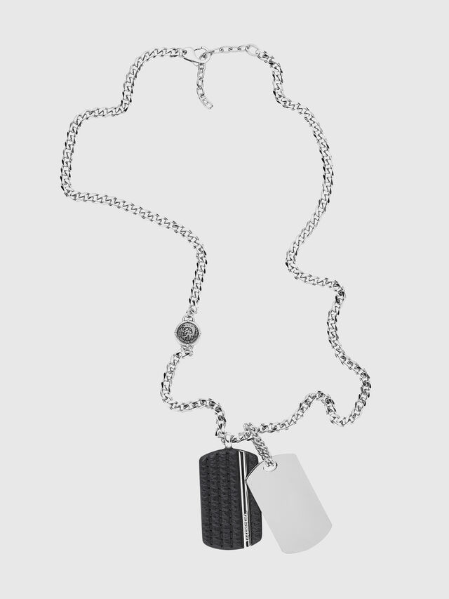 Diesel - NECKLACE DX1040, Plata - Collares - Image 1