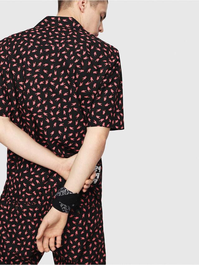 Diesel - S-FRIDAY-HAND, Negro/ Rojo - Camisas - Image 2