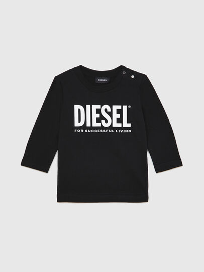 Diesel - TJUSTLOGOB ML, Negro - Camisetas y Tops - Image 1