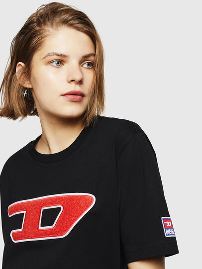 Diesel - T-JUST-DIVISION-D-FL, Negro - Camisetas - Image 3