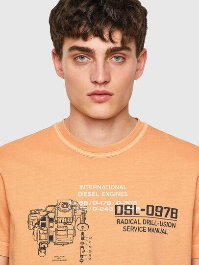 Diesel - T-DIEBIND-B1, Naranja - Camisetas - Image 3