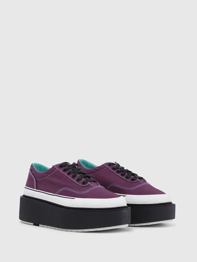 Diesel - H-SCIROCCO LOW, Violeta Oscuro - Sneakers - Image 2
