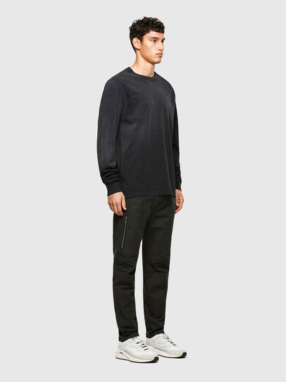 Diesel - T-JUBIND-LS, Negro - Camisetas - Image 4