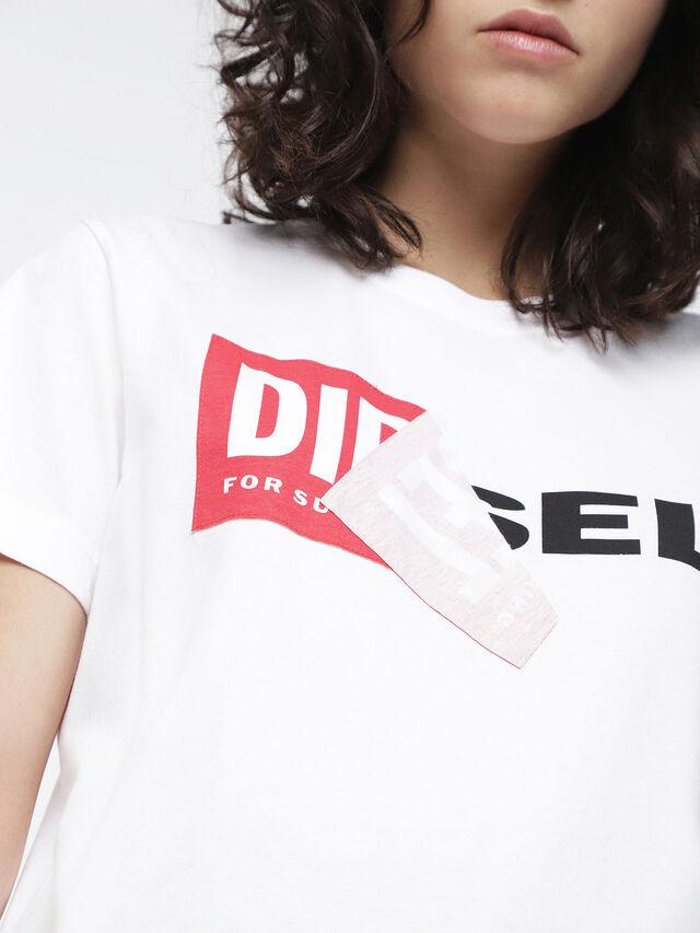 Diesel T-DIEGO-QA-FL, Blanco - Camisetas - Image 3