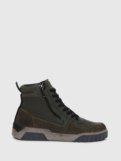 Diesel - S-RUA MID, Verde Oscuro - Sneakers - Image 1