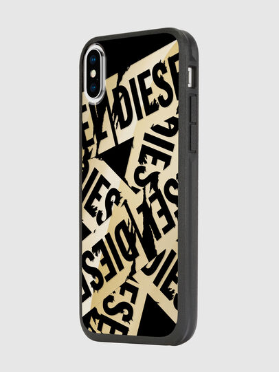 Diesel - MULTI TAPE GOLD/BLACK IPHONE X CASE, Oro - Fundas - Image 5