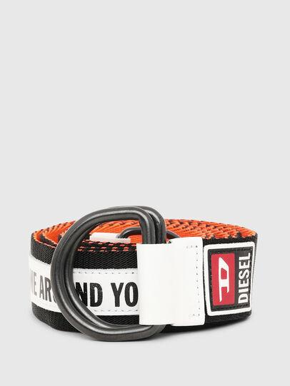 Diesel - B-RETA, Negro/Blanco - Cinturones - Image 1