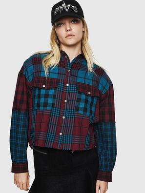 C-OKSANA, Rojo/Azul - Camisas
