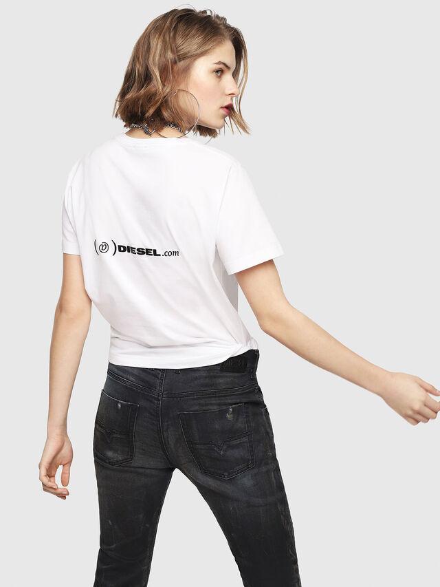 Diesel - CL-T-GADIE, Blanco - Camisetas - Image 4