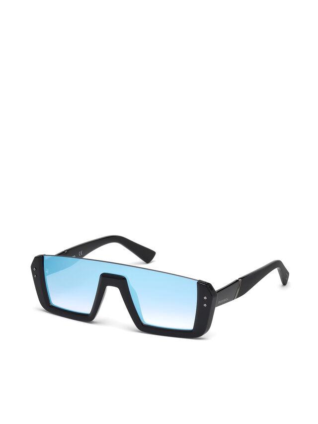 Diesel - DL0248, Negro Brillante - Gafas de sol - Image 4