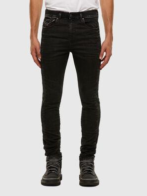 D-Reeft JoggJeans 009FY, Negro/Gris oscuro - Vaqueros