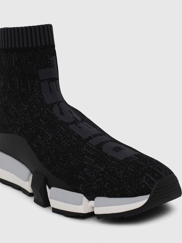 Diesel - H-PADOLA MID SOCK, Negro - Sneakers - Image 4