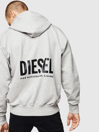 Diesel - LR-S-GIRK-HOOD-VIC, Gris - Sudaderas - Image 2