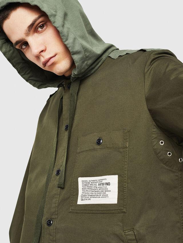 Diesel - S-EIKU, Verde Militar - Camisas - Image 3