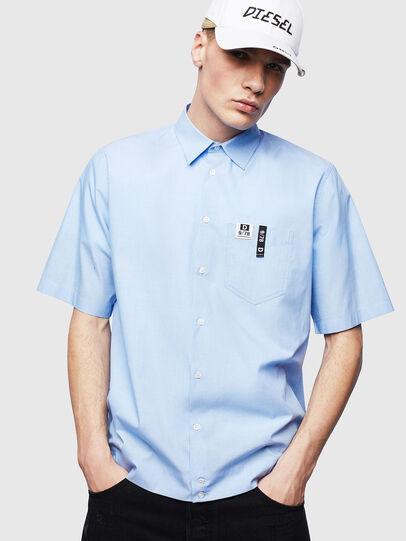 Diesel - S-FRY-FLUO, Azul Claro - Camisas - Image 1