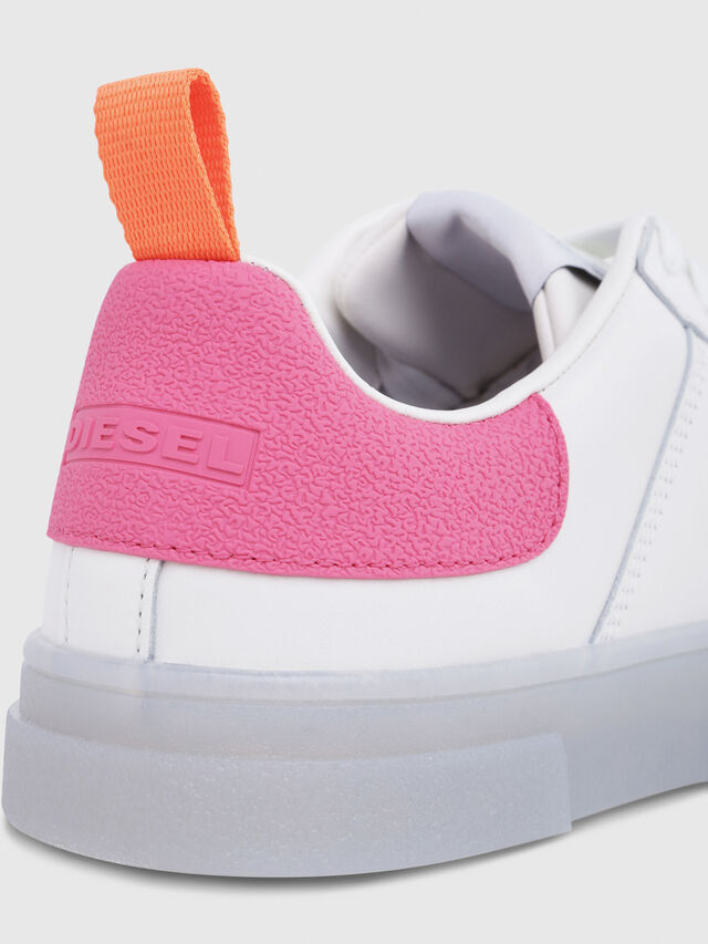 Diesel - S-CLEVER LOW W, Blanco/Rosa - Sneakers - Image 5