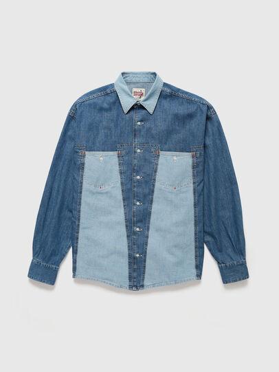 Diesel - DxD-SHIRT, Azul medio - Camisas de Denim - Image 1