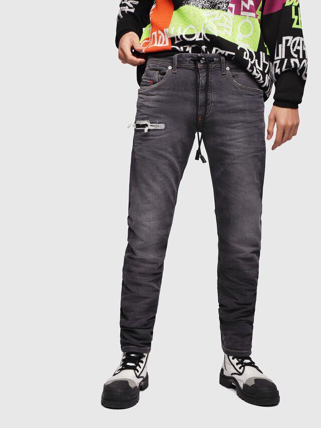 Diesel - Thommer JoggJeans 069EM, Negro/Gris oscuro - Vaqueros - Image 1
