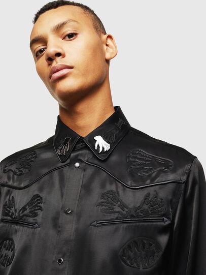 Diesel - S-VEL, Negro - Camisas - Image 3