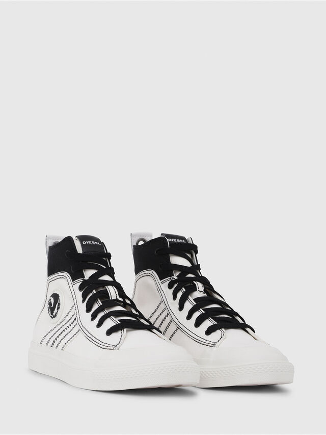 Diesel - S-ASTICO MID LACE, Blanco/Negro - Sneakers - Image 2
