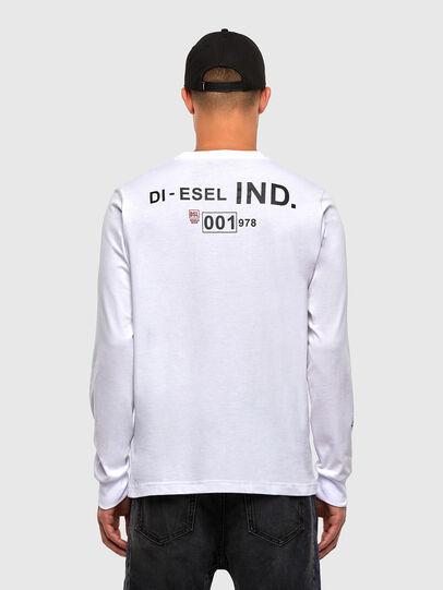 Diesel - T-JUST-LS-N62, Blanco - Camisetas - Image 2