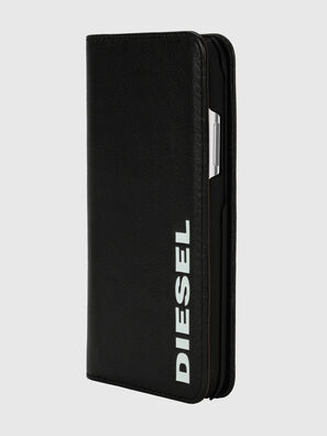 DIESEL 2-IN-1 FOLIO CASE FOR IPHONE XS & IPHONE X, Negro/Blanco - Fundas tipo libro