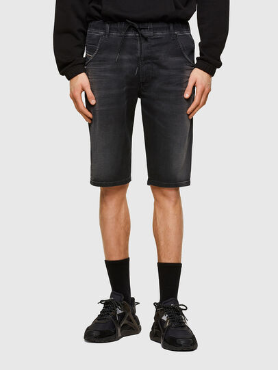 Diesel - D-KROOSHORT JOGGJEANS, Negro - Shorts - Image 1