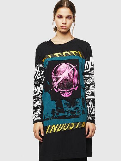 Diesel - T-PAISS, Negro - Camisetas - Image 1