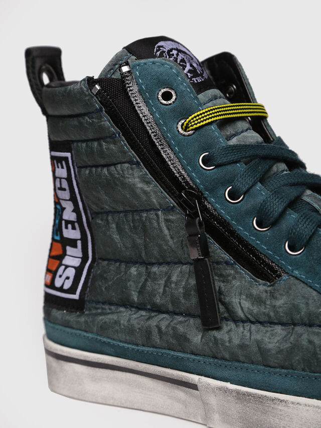 Diesel - D-VELOWS MID PATCH, Verde Agua - Sneakers - Image 4
