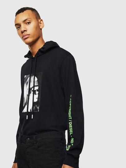 Diesel - T-JUST-LS-HOOD-J5, Negro - Camisetas - Image 4