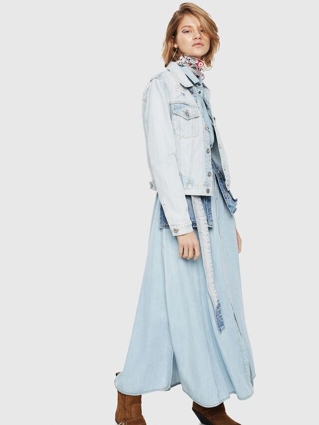 Diesel - DE-VELVET, Blue Jeans - Chaquetas de denim - Image 3