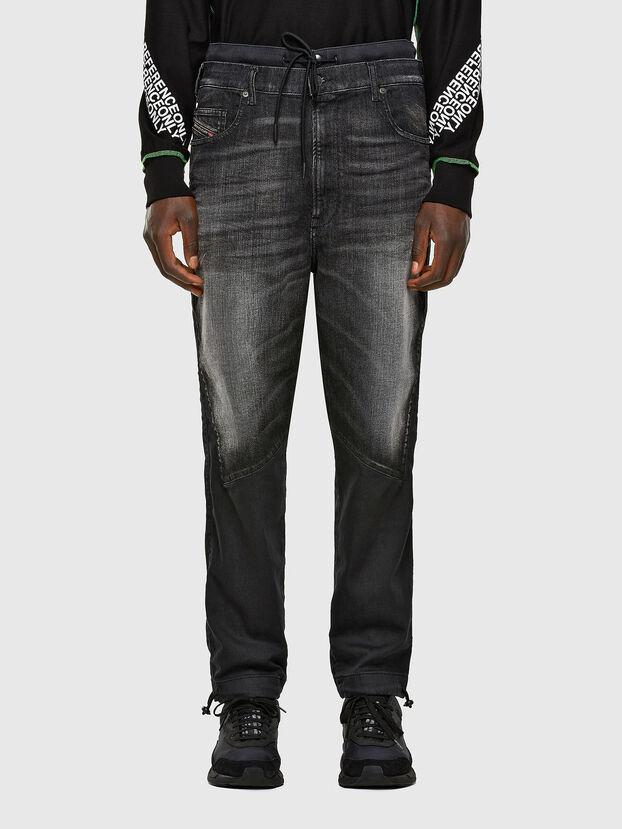 D-Skint JoggJeans 069PC, Negro/Gris oscuro - Vaqueros