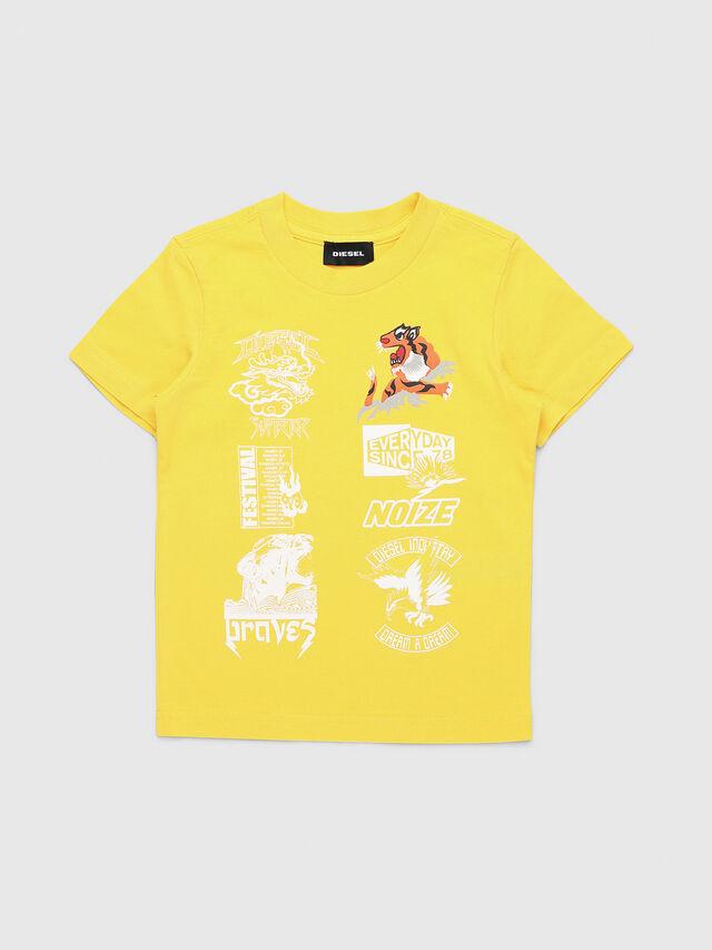 Diesel - TUCSEB-R, Amarillo - Camisetas y Tops - Image 1