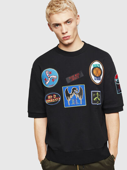 Diesel - S-MAGGY-SH-PATCH, Negro - Sudaderas - Image 1