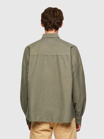 Diesel - S-LOOMY-B, Verde Militar - Camisas - Image 2
