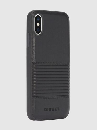 Diesel - BLACK LINED LEATHER IPHONE X CASE,  - Fundas - Image 5